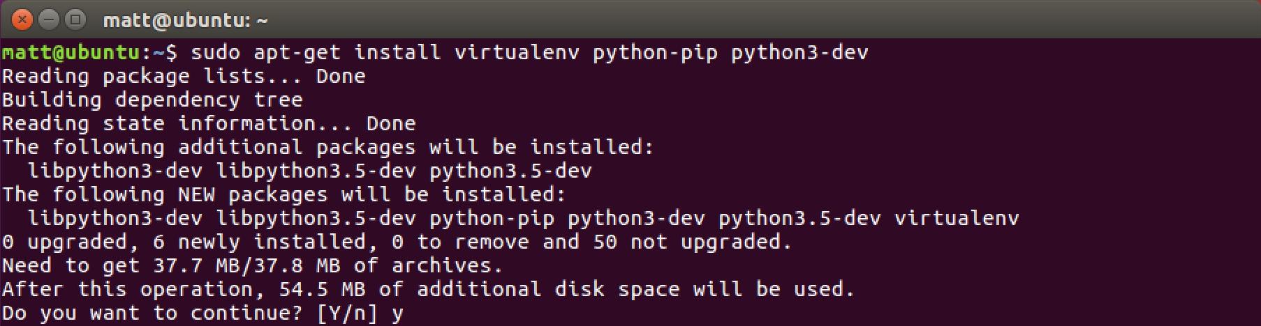install virtualenv python