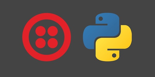 Twilio and Python logos. Copyright their respective owners.