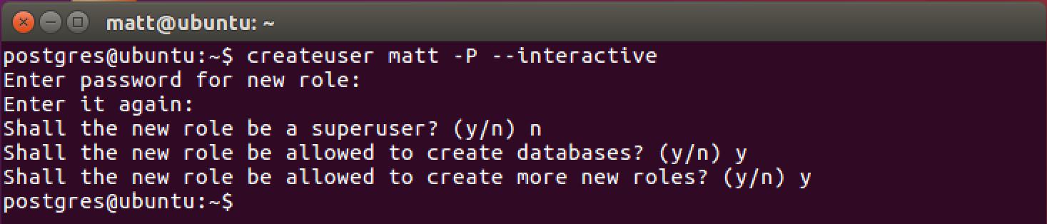 Setting up PostgreSQL with Python 3 and psycopg on Ubuntu 16 04