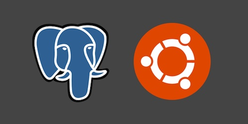 PostgreSQL and Ubuntu logos. Copyright their respective owners.