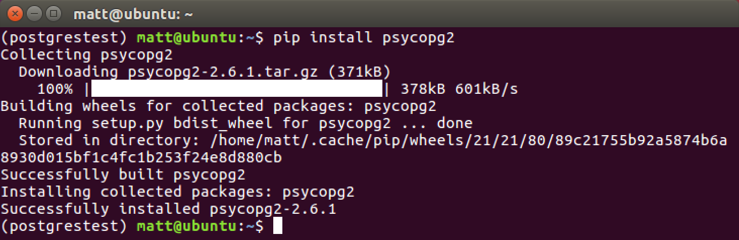 Setting up PostgreSQL with Python 3 and psycopg on Ubuntu