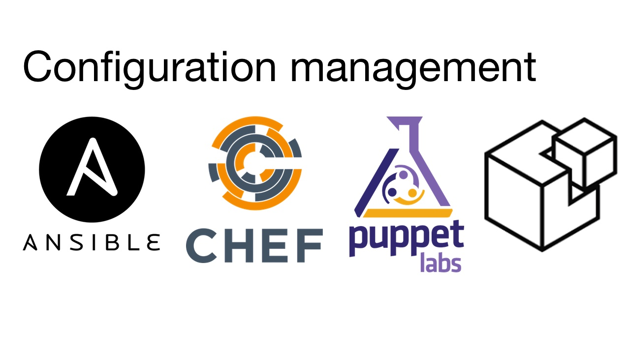 Configuration management implementations such as Ansible, Chef, Puppet and SaltStack.
