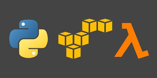 AWS, AWS Lambda and Python logos, copyright their respective owners.