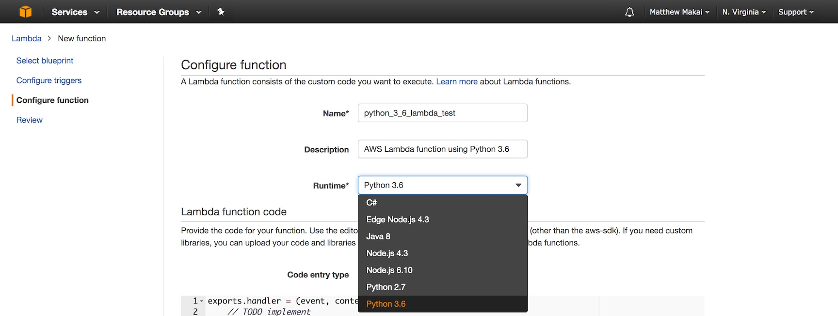 How to Create Your First Python 3 6 AWS Lambda Function