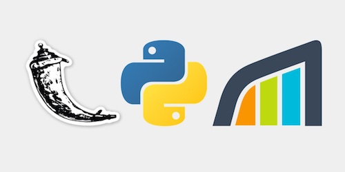 Flask, Python and Rollbar logos, copyright their respective owners.