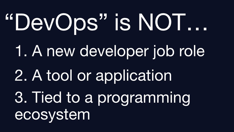 What DevOps is NOT.