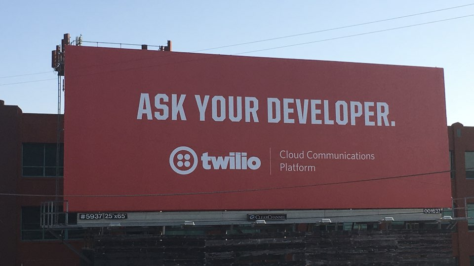 Twilio billboard, ask your developer!