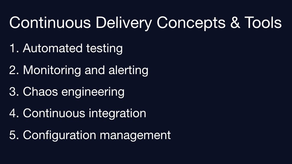 Review list of continuous delivery tools.