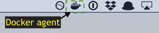 Docker agent in the menu bar.