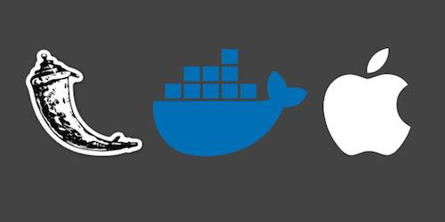 Flask, Docker and Apple logos, copyright their respective owners.