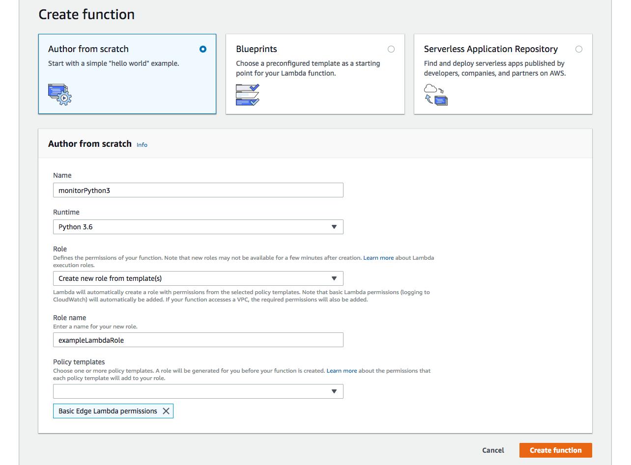 Monitoring Python 3 6 Functions on AWS Lambda - Full Stack