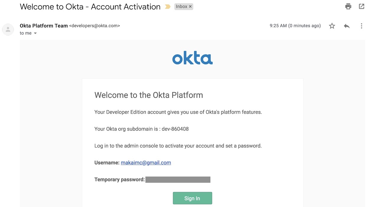 Okta sign up email.