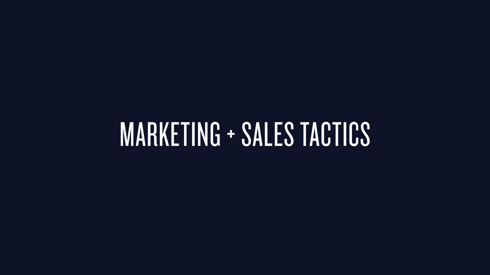 Subsection for dev-led sales and marketing tactics.