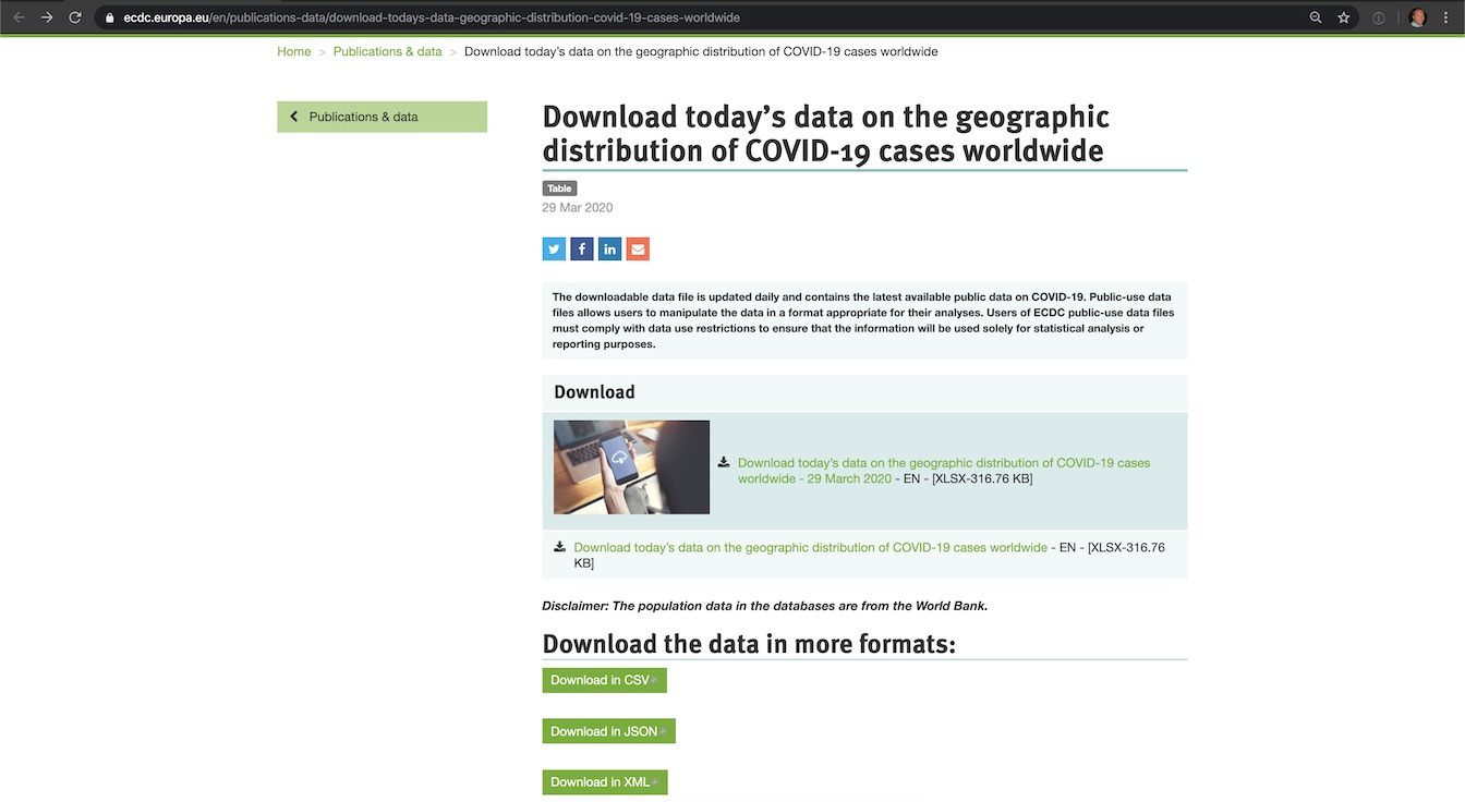 Download the CSV version of the COVID-19 March 29, 2020 data.