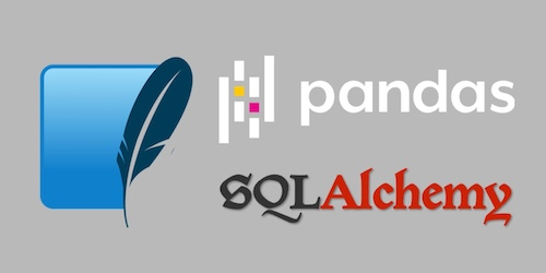 pandas and SQLite logos. Copyright their respective owners.