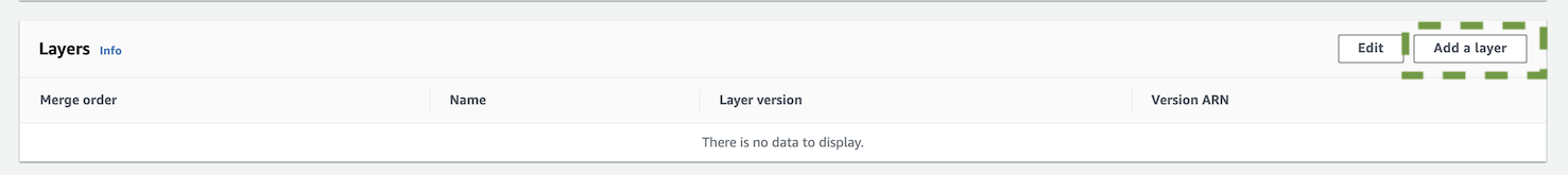 Add Lambda layer.