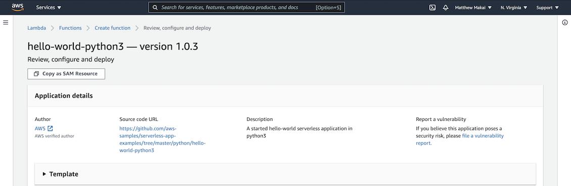 Hello world Python3 example app and Lambda function.