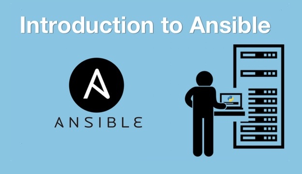 Introduction to Ansible video course logo.