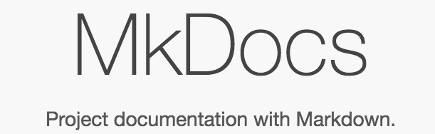 MkDocs static site and documentation generator logo.