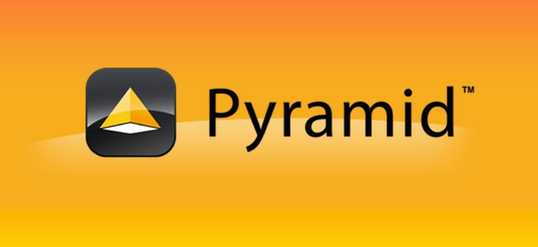Pyramid web framework logo.